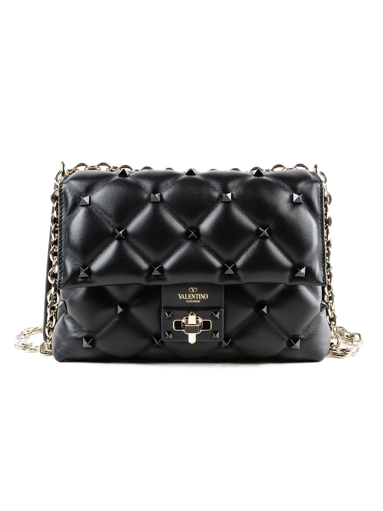 valentino garavani damen medium candystud shoulder bag 10691225. Black Bedroom Furniture Sets. Home Design Ideas