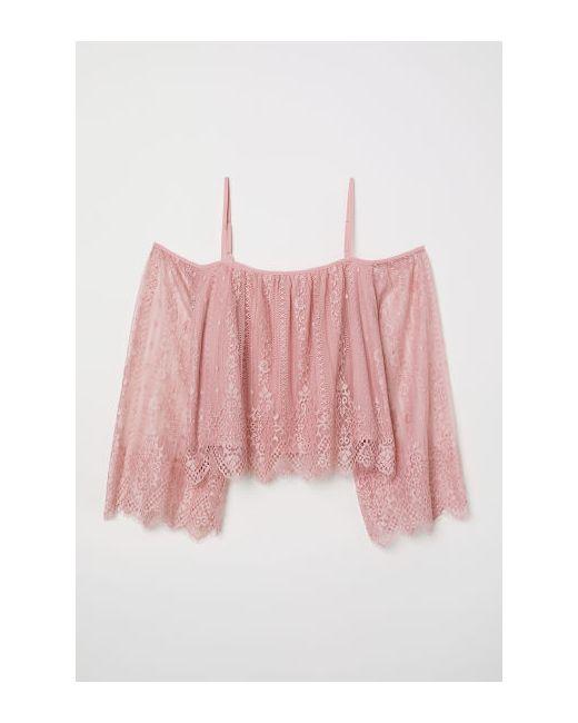 h und m spitzenkleid rosa