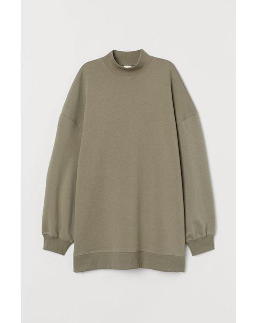 H & M Oversize Sweatshirt Damen In Grün